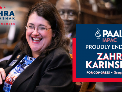 Zahra Karinshak Endorsed by PAAIA for Congress