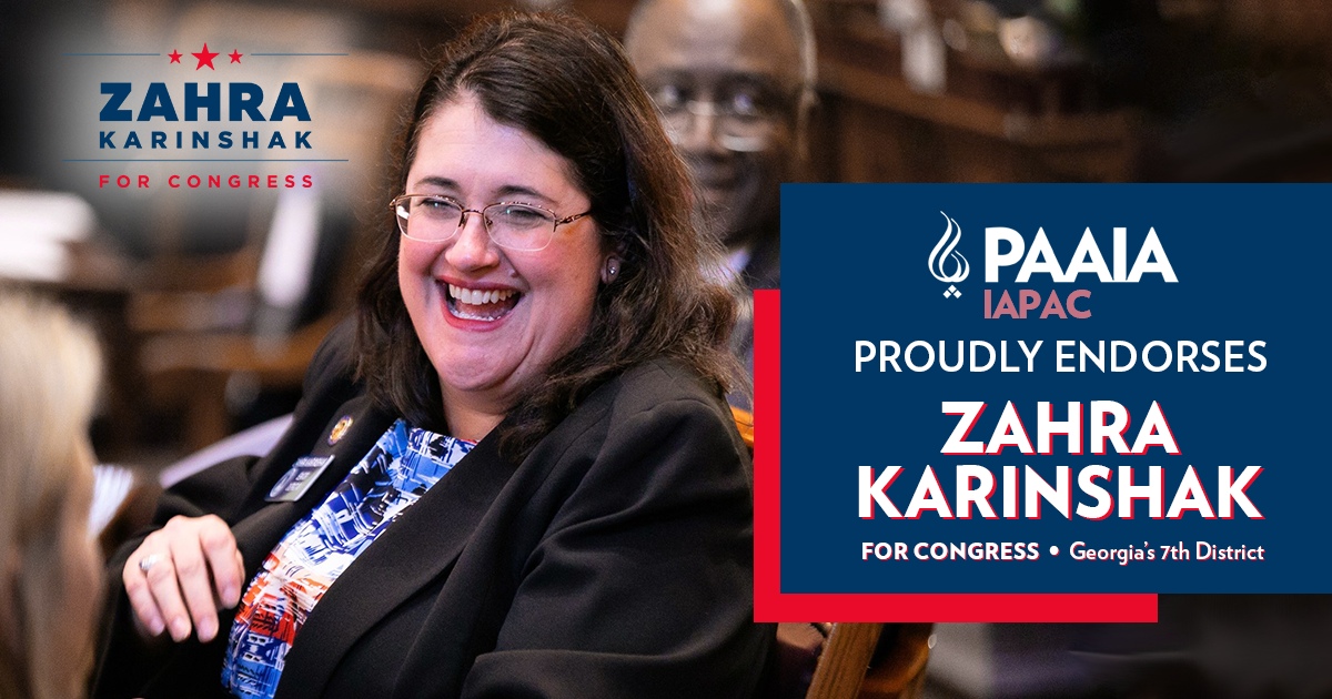 Zahra Karinshak Endorsed by PAAIA for Congress