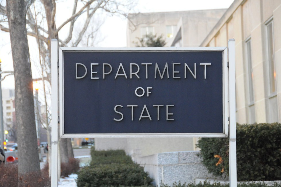 Sign Outside of State Department