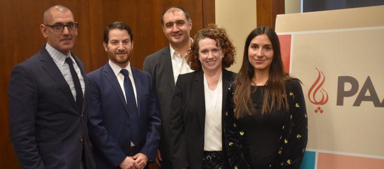 Morad Ghorban, Joel Rubin, Alex Vatanka, Suzanne Maloney, and Gissou Nia at PAAIA poll briefing